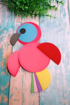 27 Most Lovely Paper Crafts For Kids : Easy Fun Make Your Kids Time Happy Frauen Basteln mit Kindern Herbst ? Paper Crafts Origami, Paper Crafts For Kids, Paper Crafting, Diy For Kids, Diy Paper, Bird Paper Craft, Paper Birds, Origami Easy, Craft With Paper
