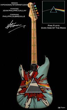 #jeaphilippegallay #philippedubreuille #stormthorgerson #guitar #guitare #PinkFloyd #petergabriel #LedZeppelin #custom #peinture #art #paint #stratocaster