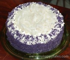 Ube Macapuno Cake Recipe - this is the Best and explains how to cook the Pre-cook the Ube aka Purple Yam You can get this a Jungle Jims if you are local