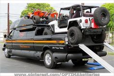 So you want to see pictures of cars, trucks and ATVs? How's this?  No trailer? No problem!