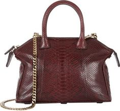 $3,500, Burgundy Leather Crossbody Bag: Zagliani Python Mini Tomodachi Crossbody Red. Sold by Barneys New York.