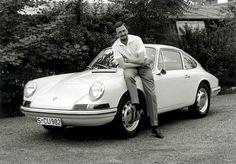 1963 Porsche type 901 (T8), at the car: Ferdinand Alexander (Butzi) Porsche.