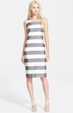 Burberry London 'Eloise' Stripe Mulberry Silk & Cotton Dress | Resort 2015