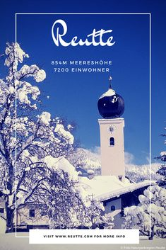 Der schmucke Marktflecken Reutte liegt in der nordwestlichsten Ecke Tirols. #naturparkregionreutte #reutte #winter #orte #places Winter, Fictional Characters, Interesting Facts, Places, Vacation, Architecture, Winter Time, Fantasy Characters, Winter Fashion