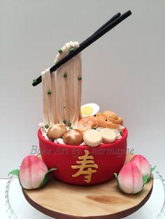 Longevity noodles by Bake Art by Charmayne