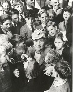 """""""I never knew that!"""" We are delighted to present the first of the many blog posts that will appear over the next two years as part of the Helen Keller Digitization Project. We are kicking off with a post by Kim E. Nielsen, professor of Disability Studies at the University of Toledo, and Helen Keller expert. Enjoy! (Image: Helen Keller surrounded by school children in Melbourne, Australia, 1948)"""