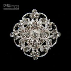 Wholesale Pins, Brooches - Buy All the Stone is Clear Rhinestone Crystal, This is a Small But Stunning Brooch, $0.96 | DHgate