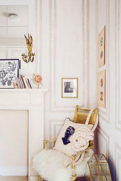 Feminine living room corner
