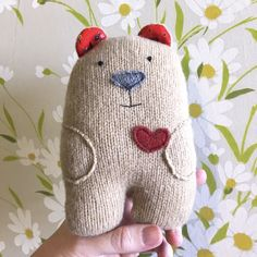 Bumble - Wool Plush Bear - product image