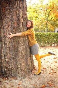 mustard tights and tree hugging.