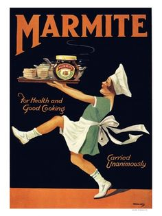 BP220K - Marmite, Vintage Advert from 1920s (30x40cm Art Print)
