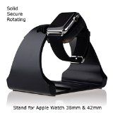 Apple Watch Stand,Thankscase Rotating Stand for the Apple Watch by Aluminium,Apple Watch Stand,Apple Watch Dock,Apple Watch Rotating Station. Wearable Technology, Apple Watch, Watches, Accessories, Black, Black People, Clocks, Clock