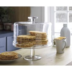 Footed Cake Platter with Dome in Specialty Serveware | Crate and Barrel