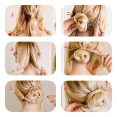 A really cute n' easy updo. :) #instacollage #winterupdos #hairstyles