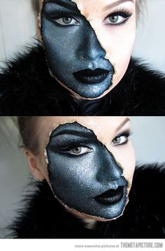 Funny pictures about Make-up awesomeness. Oh, and cool pics about Make-up awesomeness. Also, Make-up awesomeness photos. Sfx Makeup, Costume Makeup, Alien Makeup, Mask Makeup, Zombie Makeup, Eyeliner Makeup, Maquillaje Halloween 2018, Helloween Make Up, Fantasy Make Up