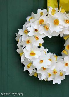 Sunny Wreath #DIY #MothersDay
