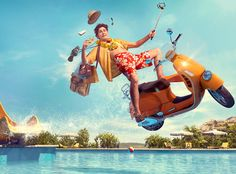 Pegasus - Can't fit at all in one vacation on Behance Ads Creative, Creative Posters, Creative Advertising, Creative Photos, Advertising Design, Sports Graphic Design, Graphic Design Trends, Graphic Design Posters, Ad Design