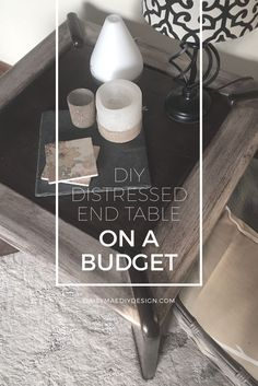 DIY Distressed Living Room End Table On Budget Modern Farmhouse How To Rustic Country Chic Paint