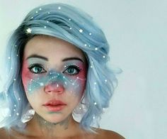 Looking for for inspiration for your Halloween make-up? Browse around this site for unique Halloween makeup looks. Looks Halloween, Halloween Face Makeup, Halloween Ideas, Beautiful Halloween Makeup, Halloween Makeup Tutorials, Halloween Tutorial, Girl Halloween, Halloween Fashion, Costume Makeup