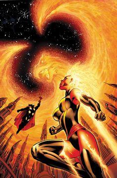 Thor and Captain Marvel vs. Phoenix
