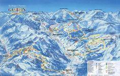 Gastein Ski Trail Map - Bad Gastein Austria • mappery
