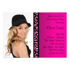 Pink Leopard Photo Sweet Sixteen Birthday Party Custom Invitations lowest price for you. In addition you can compare price with another store and read helpful reviews. BuyDeals          Pink Leopard Photo Sweet Sixteen Birthday Party Custom Invitations lowest price Fast Shipping and ...