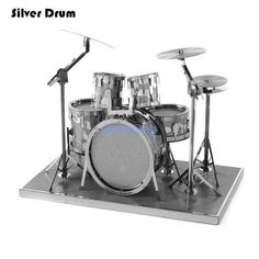 3D Metal Puzzle of Musical Instrument Contains Piano/Drum/Guitar/Cello 3D Laser Cut Metal Models for Kids Educational Toys Gifts