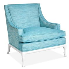 This chic teal lounge chair is from Jonathan Adler's Chippendale furniture line.