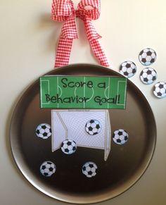 Pizza Pan Praise - whole group positive behavior incentive {soccer themed} $