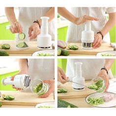 Portable Kitchen Pressing Vegetable Onion Garlic Food Chopper Cutter Slicer New Vegetable Dishes, Easy Meal Prep, Quick Meals, Vegetable Chopper, Gadgets, Food Chopper, Kitchen Dishes, Kitchen Tools, Gadget