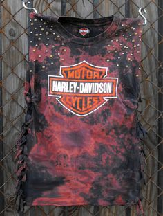 Studded Cut Off Sleeve Harley-Davidson T-shirt