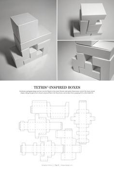Tetris-Inspired Boxes – FREE resource for structural packaging design dielines