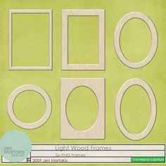 Light Wood Frames by Jen Martakis - Two Peas in a Bucket