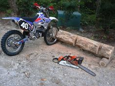 Log Dirt bike Stand