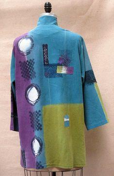 EF Vest Tibetan red in mixed silk