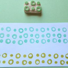 Retro Circles Border #stamping