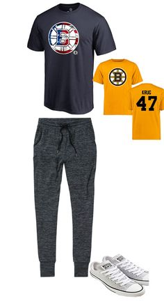 #Causal #Tshirts #MensBostonBruins #tshirts #UnisexBostonBruins #Tee Outfit like your hero in this Torey Krug Bruins Yellow Short Sleeve logo T-Shirt! It features eye-catching Blue Bruins graphics that will turn heads wherever you go. And the comfortable fabric will make you feel good all day along. Grab this T-Shirt to show your style.