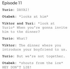 Just a bunch of random pics I have of Otayuri on my phone. I need a life, lol. DISCLAIMER: I DO NOT own any images in here. All credit goes to the amazing artists! Manga, Yurio And Otabek, Yuri!!! On Ice, Animes To Watch, Viktor Nikiforov, A Silent Voice, Ice Skaters, Yuri Plisetsky, Comic
