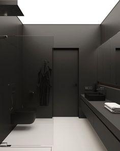I The Best Interior & Exterior Design Digital Magazine I Curating Contemporary Modern &. Interior Design Games, Black Interior Design, Interior Design Inspiration, Bathroom Inspiration, Minimal Bathroom, Modern Bathroom, Mirror Bathroom, Bathroom Bath, Bath Shower