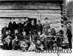 Hatfield McCoy feud, KY & WV Hatfield family photo 1897, but the feud started right after the Civil War