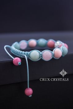 Candy Summer Mix Women's Bracelet Pink Beaded by CruxCrystals