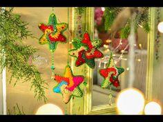 (Estrella espiral navideña)Paso a paso en crochet. - YouTube Crochet Stars, Freeform Crochet, Xmas, Christmas Ornaments, Crochet Videos, Snowflakes, Crochet Patterns, Seasons, Holiday Decor