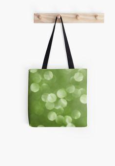 Sparkly Greenery Pantone bokeh Tote Bag by #PLdesign #greenery #sparkly #modern