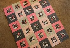 Cute baby girl quilt