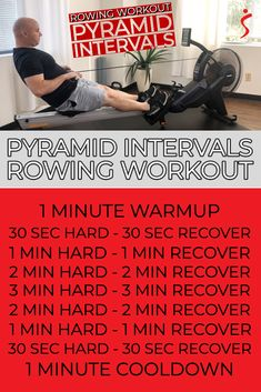 Sunny Health & Fitness Rowing Workout Pyramid Intervals This workout was designed to give you a full-length cardio workout that will help you increase your r. Tabata Intervals, Cardio, Weight Loss Challenge, Workout Challenge, Rower Workout, Calorie Burning Workouts, Fitness Design, I Work Out, Rowing