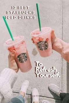 12 Best Starbucks Iced Drinks To Refresh Yourself Starbucks Drinks, Starbucks Coffee, Coffee Drinks, Pink Starbucks, Foods With Calcium, Bacon Bits, Good Foods For Diabetics, Refreshing Drinks, Eating Plans