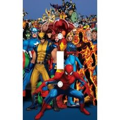 X Men Marvel Heroes Decorative Light Switch Cover Plate ac28e43d664a