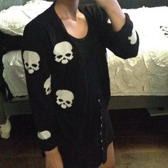Alexander McQueen Skull Cardigan This was given to me as a gift. Please no low ball offers. No trades or pp. In perfect condition, no tears or stains. Comment for further questions Outerwear Alexander McQueen