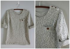 amazing sweater from Garment House (using a knitting machine and a self drafted pattern)