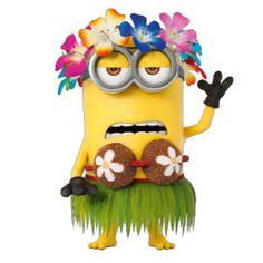 The Minions - Kevin - Luau Minion Movie, Minions Despicable Me, Evil Minions, Minions Funny Images, Minions Quotes, Funny Minion, Funny Jokes, Hilarious, Minion Stuff
